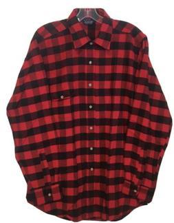 New Vintage Woolrich Plaid Button Down Shirt Men's Sz L NOS