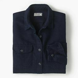 NEW - Wallace Barnes J. Crew Chamois Indigo Work Shirt Flann