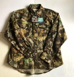 new whitewater camoflage flannel shirt mens size