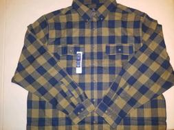NEW WITH TAGS MEN'S GEORGE 2XL  BUTTON DOWN FLANNEL LONG SLE