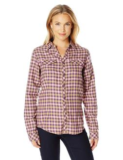 NEW Columbia Women's Simply Put II Flannel Shirt Dusty Purpl