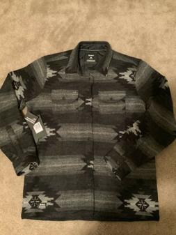 NEW! Hurley X Pendleton Wool Flannel Shirt Sz Medium Black G