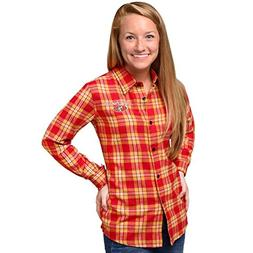 NFL Womens 2016 Wordmark Basic Long Sleeve Flannel Shirt