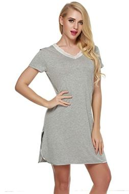 nightshirts sleep shirt lace v
