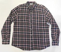 NWT Top Drawer, 2 Pocket Grey w/Red Plaid 100% Soft Cotton F