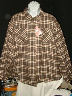 NWT Wrangler Authentics Men's Long Sleeve Quilted Lined Flan