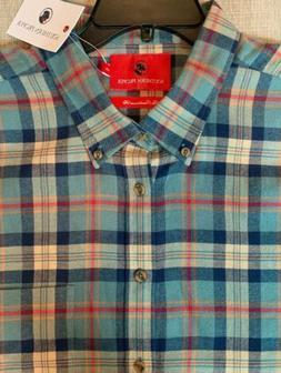 NWT SOUTHERN PROPER Burton Plaid DOG Flannel Shirt Mens XXL