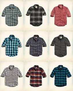 NWT Hollister by Abercrombie&Fitch Men Classic Plaid Stretch