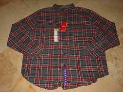 NWT WOOLRICH CLASSIC FLANNEL BUTTON FRONT PLAID LONG SLEEVE