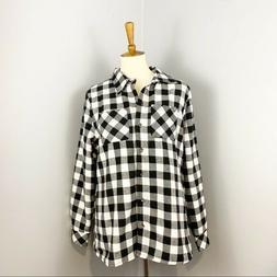 nwt faux fur lined plaid flannel shirt