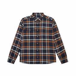 NWT Patagonia Fjord Flannel Navy Blue Plaid Extra Small XS -