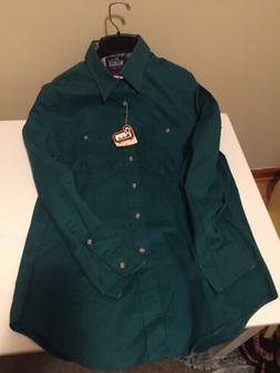 NWT Woolrich flannel Shirt  Dark Green in Medium  WPL 6635