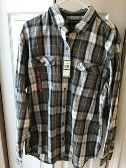 NWT G.H. Bass Co. Pewter Flannel Long sleeve Button Down $74