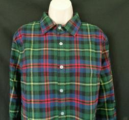 nwt green blue multi colored plaid long