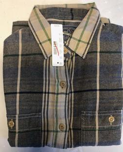 NWT J.Crew Men's shirt Midweight flannel shirt in weathered