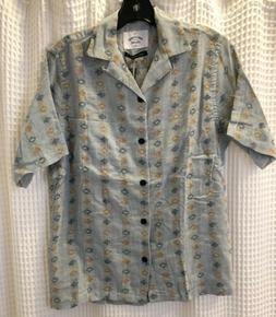 NWT Portuguese Flannel Laguna Blue Short Sleeve Shirt Size X