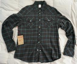 NWT True Religion Long Sleeve Rocky Plaid Flannel Shirt in G