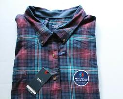NWT IZOD Men's Big and Tall Flannel Long Sleeve Shirt Size 5