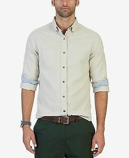 NWT Nautica Men's Classic Fit Solid Flannel Shirt, Coastal T