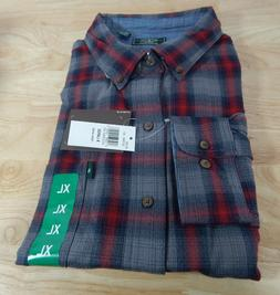 NWT Men's G. H. Bass Fireside Flannel Long Sleeved Cotton Bl