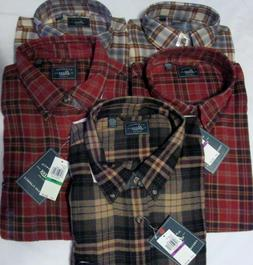 NWT Men's G. H. BASS & Co. Fireside Plaid Flannel Shirts Ret