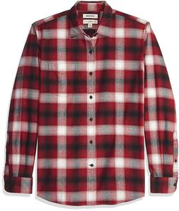 NWT Men's Long-Sleeve Brushed Flannel Goodthreads Shirt Medi