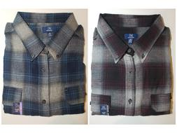 *NWT - GEORGE - MEN'S PLAID FLANNEL SHIRT - SUPER SOFT, REIN