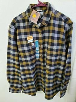 NWT Carhartt Men's Rugged Flex Hamilton Plaid Flannel Shirt