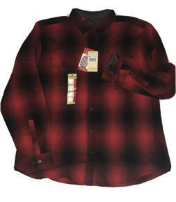NWT Men's WOOLRICH Size XL Campfire Red Button Down Plaid Sh