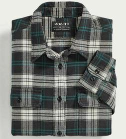 NWT Men Filson Vintage Flannel Work Shirt Black/Teal-Cream #