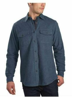 NWT Grizzly Mountain Men's Flannel Chamois Shirt Cotton Bl