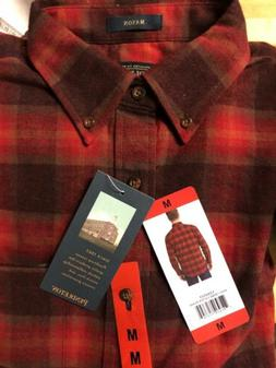 NWT Pendleton Mens Long Sleeve Flannel Mason Shirt Size MEDI