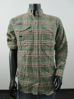 NWT Mens Columbia PFG Bonehead Flannel Classic Long Sleeve F