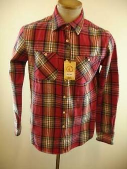 NWT Mens S Jachs Brawny Flannel Work Shirt J. Shirts NWT Red