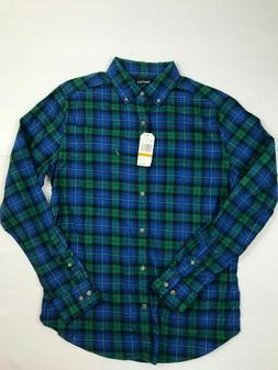 NWT Men's Small Nautica Blue Flannel Shirt