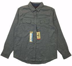 NWT Woolrich Mens Sz L Large Flannel Long Sleeve Shirt Heath