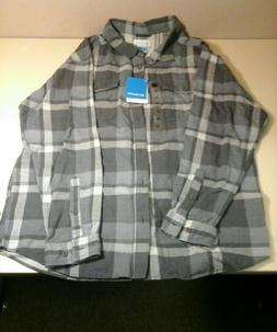 nwt mens xxl flannel long sleeve button