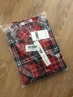 nwt ochenta mens long sleeve plaid flannel