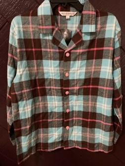NWT Alexander Del Rossa SM MULTICOLORED PLAID BUTTON UP Flan