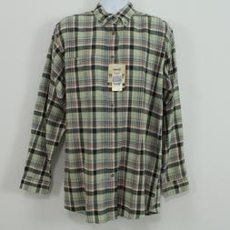 Wrangler NWT TALL Long Sleeve Green Gray Plaid Flannel Men's