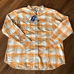 NWT Columbia University of Tennessee Mens Flannel Shirt Size