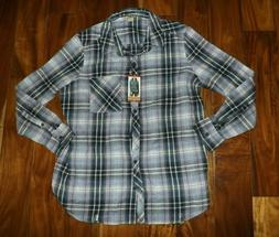 NWT Womens WOOLRICH Vintage Lilac Purple Plaid Flannel Colla