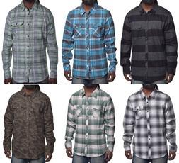 O'neill Mens Mix & Match Casual Flannel Button Up Shirt Choo