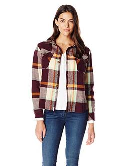 Woolrich Women's Oxbow Bend Chunky-Flannel Shirt, Wine Plaid