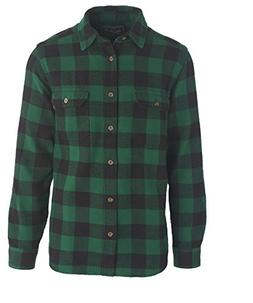 Woolrich Men's Oxbow Bend Flannel Shirt, Forest Green Buffal