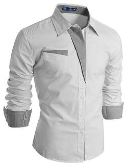 Mens Patch Point SLIM dress shirts
