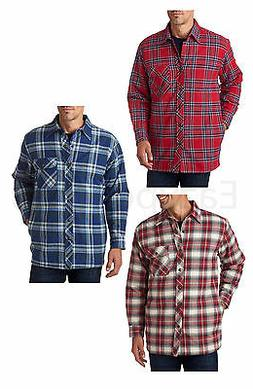 Backpacker, Peaches, Men's Flannel Shirt Jac with Quilt Lini