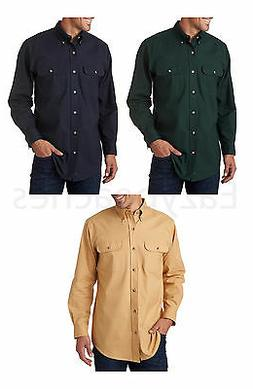 Peaches Pick - Backpacker Men's Solid Flannel Shirts, 100% C