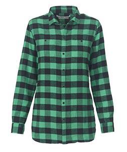 Woolrich Women's Pemberton Boyfriend Flannel Shirt, Wintergr