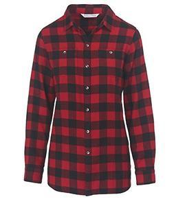 Woolrich Women's Pemberton Boyfriend Flannel Shirt, Old red